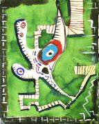 William Baziotes, Figure on Green, 1940
