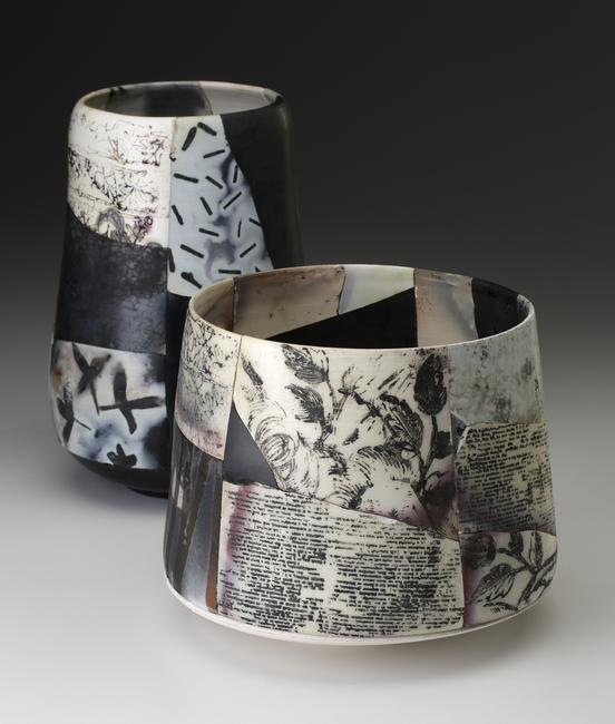 Saggar Fired Shard Pots by Irina Okula