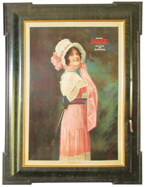 This 1914 self-framed tin sign for Coca-Cola, in excellent condition, will be sold April 1-3 by Showtime Auction Services in Ann Arbor, Michigan.