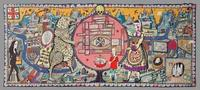 Grayson Perry, Map Of Truths And Beliefs, 2011, wool and cotton tapestry, 78 3/4 x 185 1/8 in.  Collection of Eileen and Richard Ekstract, image courtesy the Artist and Victoria Miro, London © Grayson Perry