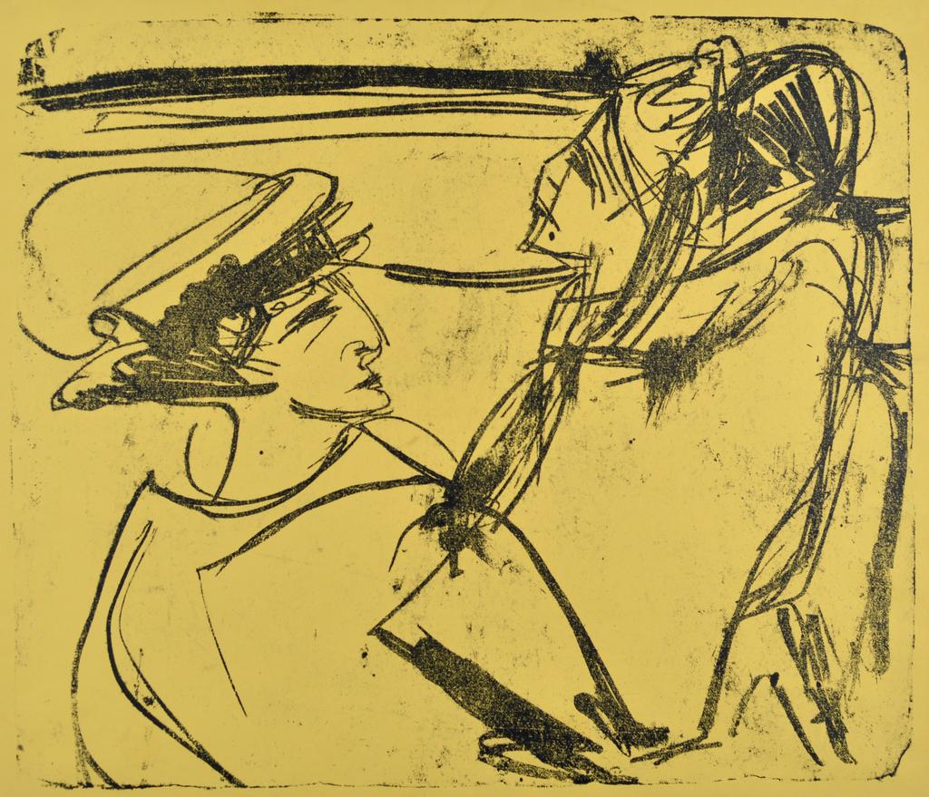 Ernst Ludwig Kirchner Two Women in a Boat, 1912 Lithograph One of four known impressions