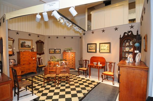 18th and early 19th century American furniture are highlights of dealers George & Debbie Spieker of North Hampton, NH, at the New Hampshire Antiques Show.