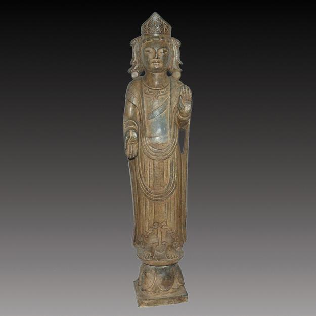 Eastern Wei Guanyin.  Stone.  Lot 258.  Gianguan Auctions, September 9 sale.