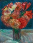 William Glackens (1870–1938) Vase of Flowers Oil on canvas 12½ x 9¾ inches Signed upper left: W Glackens