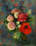 William Glackens (1870-1938) Bouquet with Poppy.  Oil on canvas