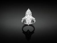 This amazing 8.03 Golconda Diamond is Internally Flawless and cut in a luxurious marquise shape.