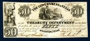 This is one of 10 different Government of Texas and Republic of Texas obsolete banknotes in the May 7 auction.