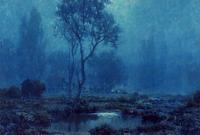 "Granville Redmond ""Moonlit Pond"" SOLD"