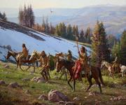 Martin Grelle (1954–Present), Last Trail to Medicine Wheel, 2016, oil and acrylic on linen, 40 x 48 in, Estimate: $100,000–$200,000