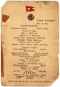 This extremely rare original menu from the last luncheon served aboard the Titanic is available for online bidding through Invaluable.com.