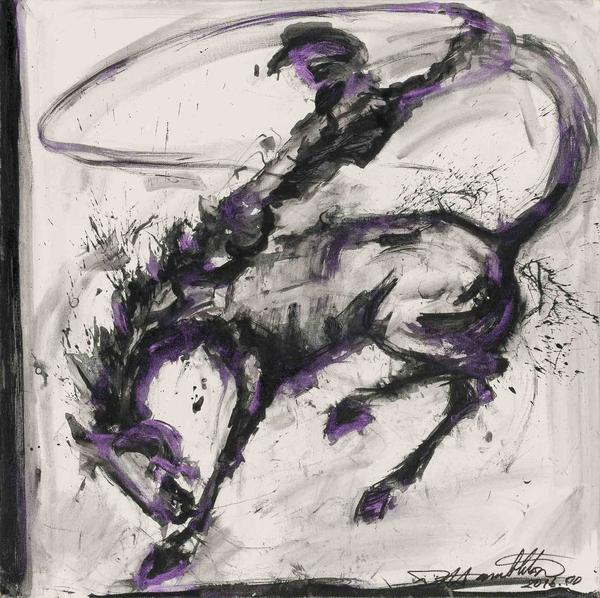 Richard Hambleton (1954-2017), Horse and Rider, 2016.  Est.  $15,000-20,000