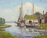Quiet Inlet, Peconic Bay by Helen M.  Kroeger