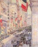 "Childe Hassam, ""Up the Avenue."" Private Collection."
