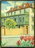 """The Robert Barnwell Rhett House"" by Will Hession (American mid-20th century)."
