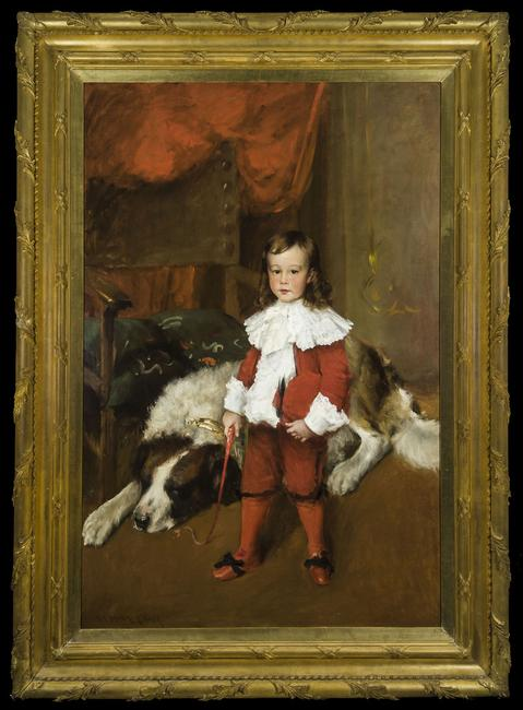 Hirschl & Adler Galleries, Inc.  Boy in Red: Portrait of Josiah Lasell.  William Merritt Chase.  c.  1895.