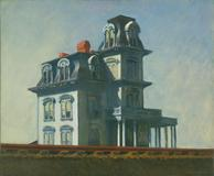 Edward Hopper (American, 1882–1967).  House by the Railroad.  1925.  Oil on canvas.  24 x 29″ (61 x 73.7 cm).  The Museum of Modern Art, New York.  Given anonymously.