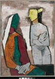 Maqbool Fida Husain, Untitled (Lady with Lamp), ca.  1960.  Courtesy private collection.