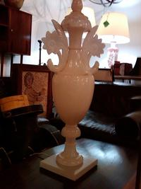 A great single vintage alabaster lamp