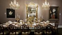A glittering tablescape in M.S. Rau Antiques' exhibition, Aristocracy: Luxury and Leisure in Britain