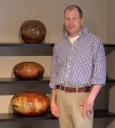 Matt Moulthrop, seen here with his work, at his Atlanta home and studio.