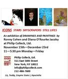 YOU ARE INVITED TO ICONS: STARS SKYSCRAPERS STILL LIFES AT PHILIP COLLECK, LTD.,TUESDAY, NOVEMBER 15-THUSDAY, DECEMBER 22ND, 2011