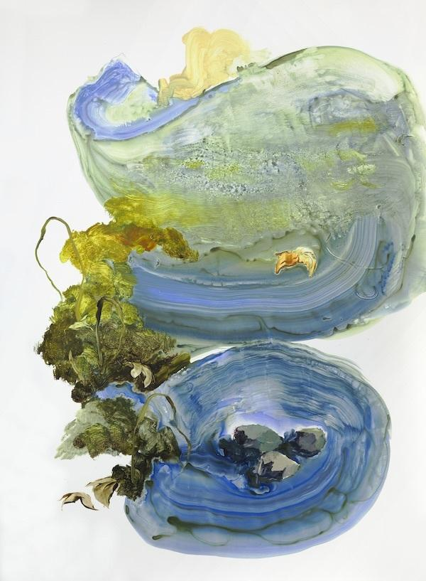 Ilana Manolson, Hunter, 2019, acrylic on yupo paper on board, 152.5cm x 61cm