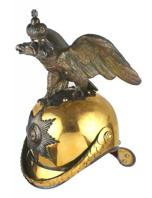 This rare Imperial Russian Garde du Corps officer's helmet from circa 1900-1917 sold at auction for $17,050.