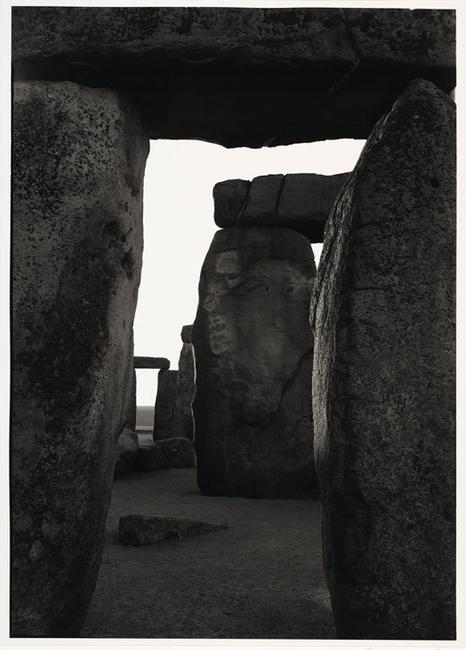 Paul Caponigro, Inner Trilithon, Sunrise, Stonehenge, 1970, Gelatin Silver Print, Collection of the artist