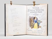 Signed by 70 artists from the Disney Studio