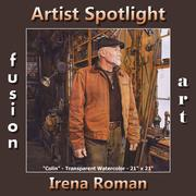 Irena Roman - Fusion Art's Traditional Artist Spotlight Winner for July 2018 www.fusionartps.com