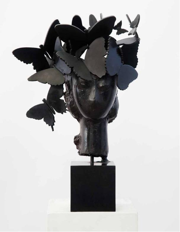 Caption: Title : Iris, 2013 Medium : Bronze Size : 44x30x20 Cm / 17,3x11,8x7,9 In