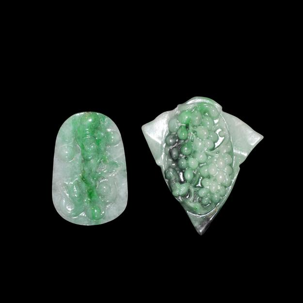 Icy jade pendants.  Lot 5.  Gianguan Auctions, September 9.