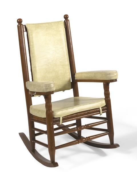 One of JFK's iconic rocking chairs, this one used at the White House.  Sold for $60,000 at Eldred's.