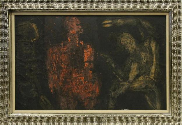 This oil on board painting attributed to Jackson Pollock will be sold at auction October 11th.
