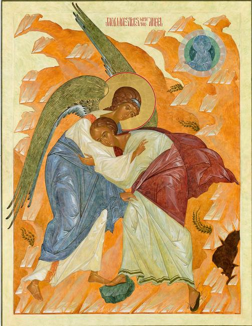 Jacob Wrestling the Angel, Nikita Andrejev.