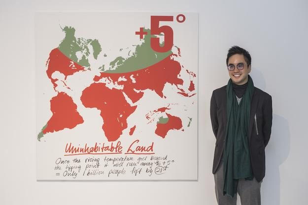 Adrian Cheng with +5 Degrees World Map, K11 Art Mall, Shanghai