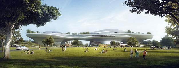 Rendering for Lucas Museum of Narrative Art