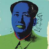 This Mao screenprint by Andy Warhol, previously owned by Dennis Hopper, features two bullet holes added by the Easy Rider filmmaker late one night.