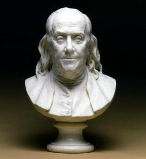 Houdon bust of Benjamin Franklin