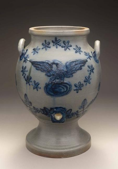 Water Cooler, Henry Lowndes, Petersburg, Virginia, 1840-1842, salt-glazed stoneware, Gift of Colwill-McGehee Antique Decorative and Fine Arts in Honor of Carolyn J.  Weekley, 1993.900.1