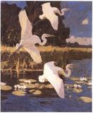 "Frank Benson's ""Great White Herons,' 1933, was sold by the Pennsylvania Academy of Fine Arts."