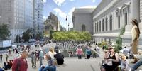 Rendering of the new David H.  Koch Plaza
