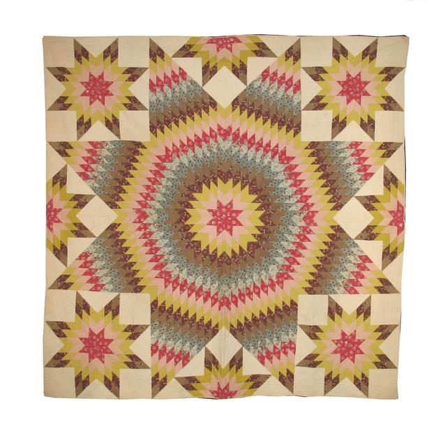 Chintz star quilt from Laura Fisher, NYC.
