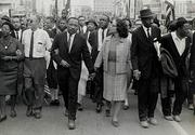Morton Broffman (American, 1928–1992) Dr.  King and Coretta Scott King Leading Marchers, Montgomery, Alabama, 1965 Gelatin silver print High Museum of Art, Atlanta; Gift of the Broffman Family 2007.34
