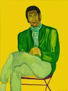 Beauford Delaney Portrait of a Young Musician, 1970 Acrylic on canvas, 51 × 38 in.  The Studio Museum in Harlem; gift of Ms.  Ogust Delaney Stewart, Knoxville, TN 2004.2.27 Photo: Marc Bernier