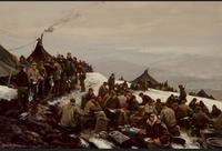 Ogden Pleissner, Chow Line, 1943