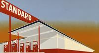 Edward Ruscha, Standard Station, 1966.  (c) Edward J.  Ruscha IV.  All rights reserved.  Photo (c) 2012 Museum Associates/LACMA