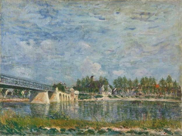 Alfred Sisley (French, 1839-1899) The Bridge at Saint-Mammès, 1881 Oil on canvas, 54.6 x 73.2 cm Philadelphia Museum of Art, John G.  Johnson Collection, 1917 (Cat.  1082) Image courtesy of the Philadelphia Museum of Art