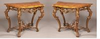 A Pair of Genovese Console Tables in the Rococo Manner, Italy.  Circa 1730