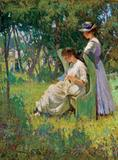 Signed Impressionist painting by Mary Titcomb (Am., 1858-1927), circa 1905 ($120,000).